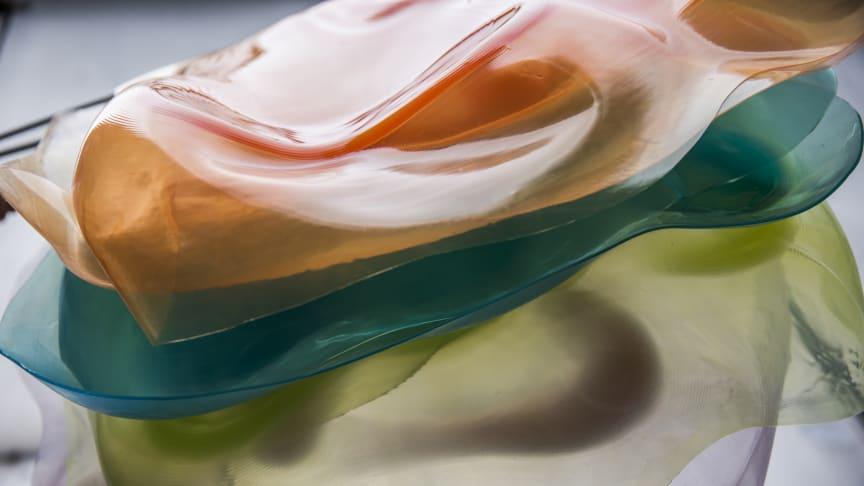 Unpredictable Flesh, material-experiment av Małgorzata Zboinska - foto: Tina Axelsson