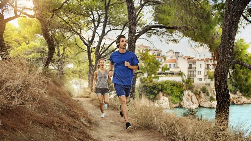 Mange danskere tager de gode træningsvaner med på ferie.