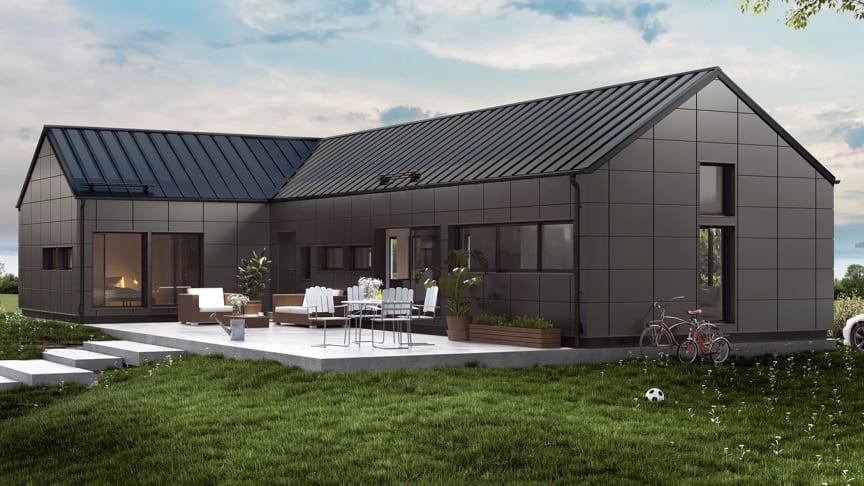 Nyt æstetisk ståltag med integrerede solceller