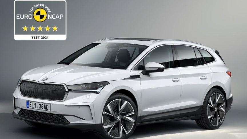 Nya ŠKODA ENYAQ iV belönas med fem stjärnor i Euro NCAP