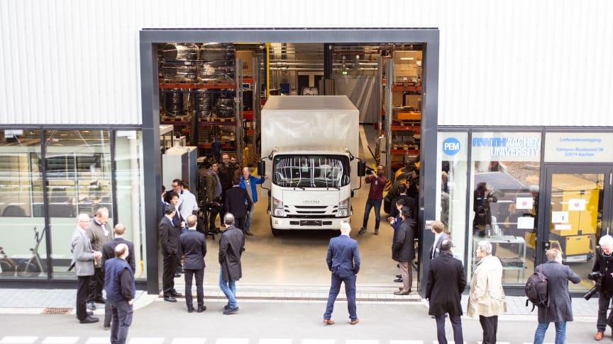 BPW RWTH Fahrvorführung in der Anlauffabrik Aachen