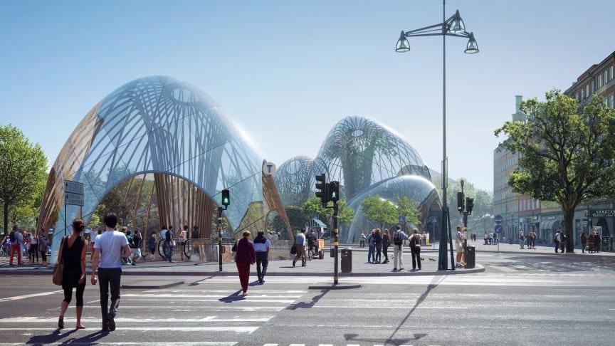Utopia Arkitekters förslag för en inomhuspark på S:t Eriksplan.