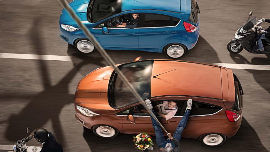 Ford oppnår 6 Euro NCAP sikkerhetspriser og 5 stjerner i kollisjonstest for både nye Fiesta og nye Kuga