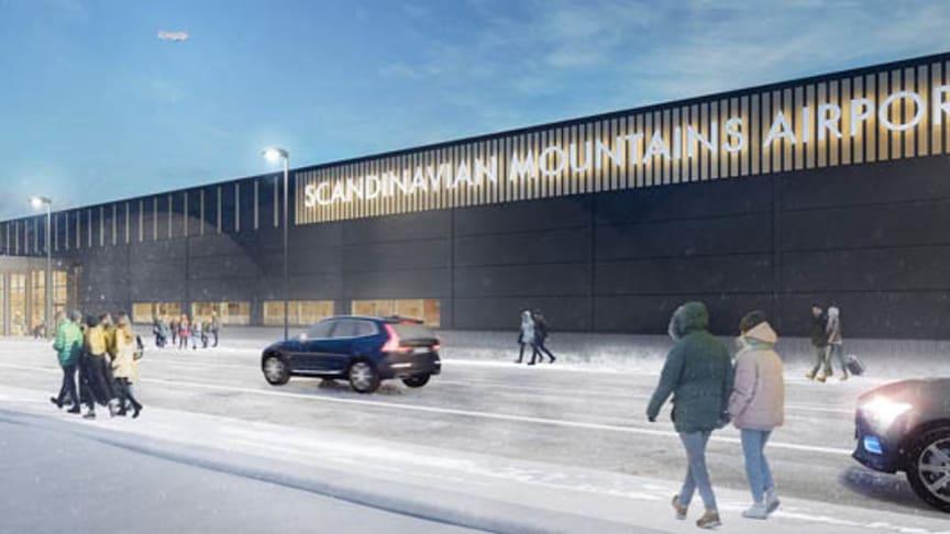 Nu lanserar SAS flyglinjer från Danmark och England till den nya flygplatsen mellan Sälen och Trysil