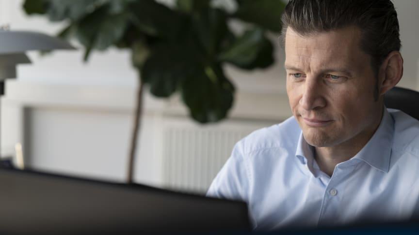 Peder Stedal, adm. direktør i Elgiganten, glæder sig over endnu et rekordår.