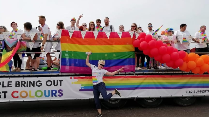 The GTR float at Brighton & Hove Pride 2019