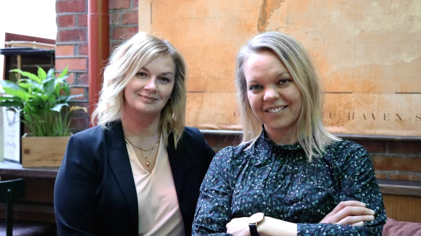 Annica Wållberg, hotelldirektör och övergripande ansvarig på Blå Huset, tillsammans med Lison Westermark, ny restaurangchef på Gotthards krog.