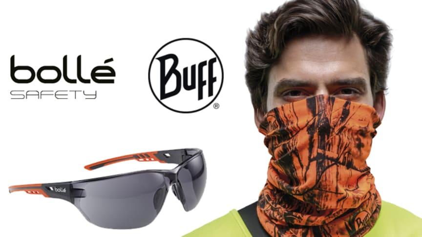 Auringossa työskentely ilman kunnon suojautumista on uhka terveydelle. BUFF® Professional Coolnet UV+ -tuubipäähine ja Bollé Safety Ness+ smoke -suojalasit ovat välttämätön osa oikeaoppista, asianmukaista suojautumista haitallisilta auringonsäteiltä.