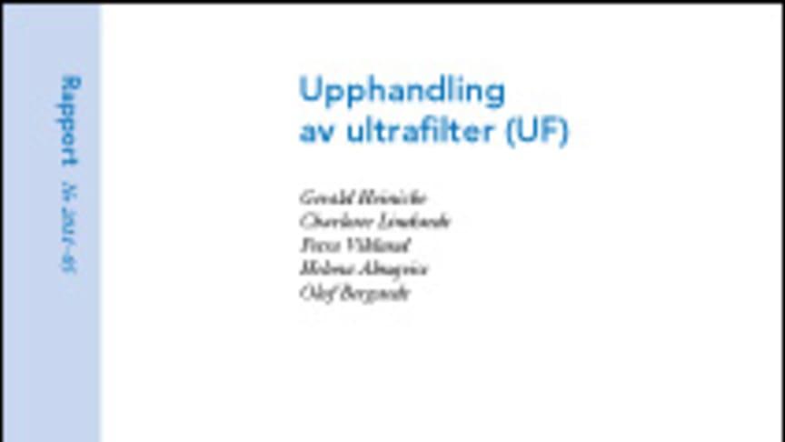 SVU-rapport 2011-05: Upphandling av ultrafilter (UF) (dricksvatten)