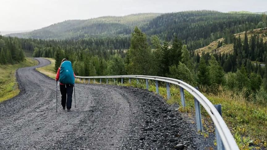 Angeliqa Mejstedt som driver Vandringsbloggen.com har gått hela S:t Olavsleden under säsongen 2016.