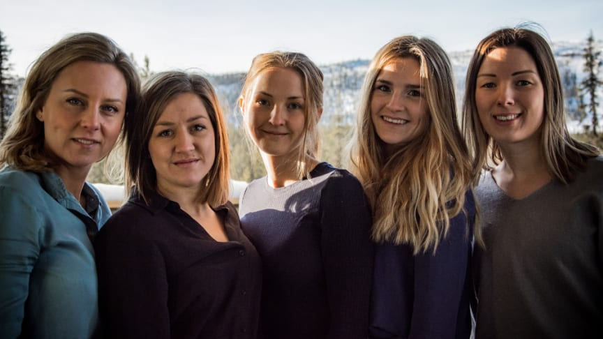 Marléne Eriksson, Hanna Wennström, Emelie Larsson, Rebecca Bertlin och Anna Sejnell