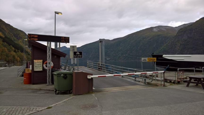 Eidsdal ferjekai (Foto: Kai Bedringås, Møre og Romsdal fylkeskommune).