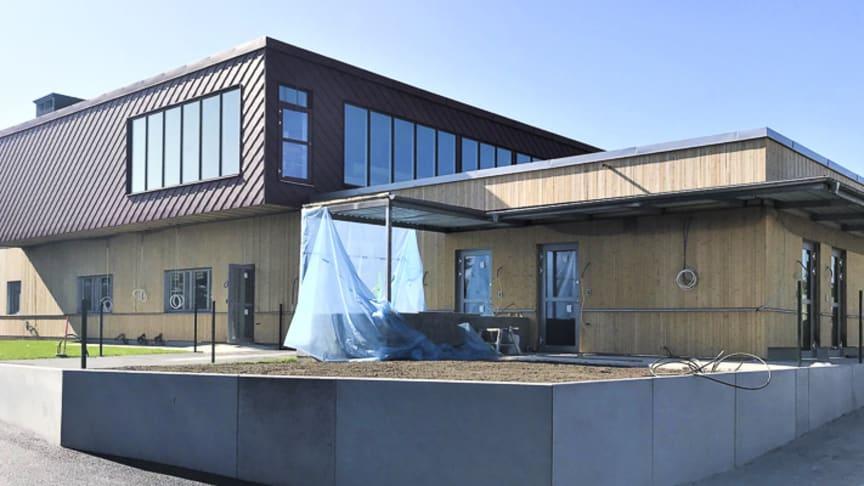 Tillbyggnaden av Evidensia Djursjukhuset Malmö framskrider.