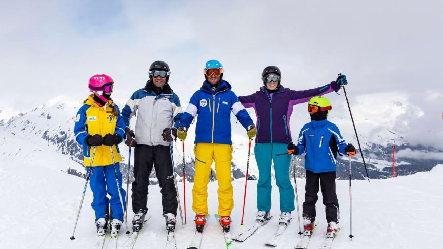 Skeacher mit Familie © Graubünden Ferien, Thalia Wünsche