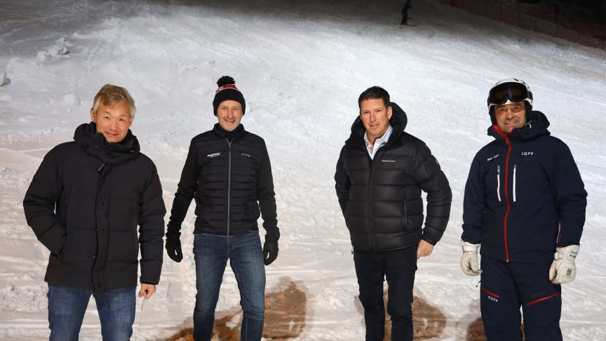 From the left: Thomas Dahlstedt, head owner of Nordrest, Stefan Sjöstrand CEO and President SkiStar, Pontus Frithiof, owner and founder of the Pontus Group and Jonas Bauer, Resport Manager SkiStar Sälen