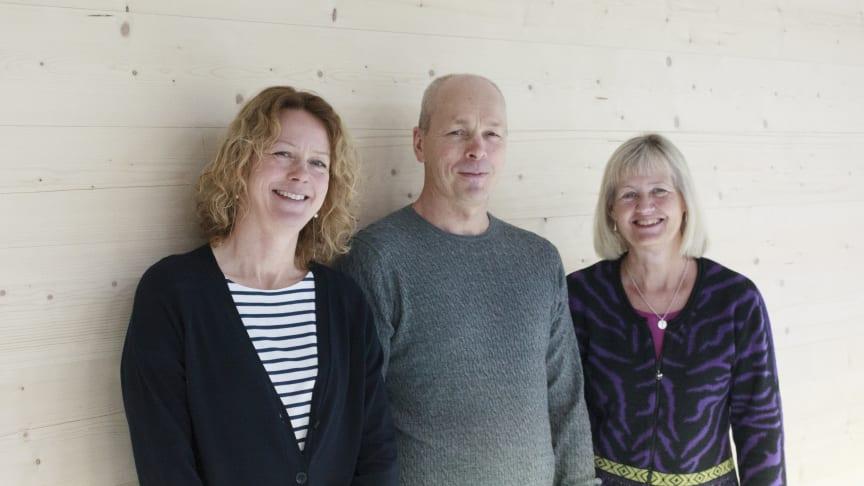 Pristagare SPPS 2019 från Umeå universitet och SLU i Umeå: professorerna Åsa Strand, Torgny Näsholm och Karin Ljung