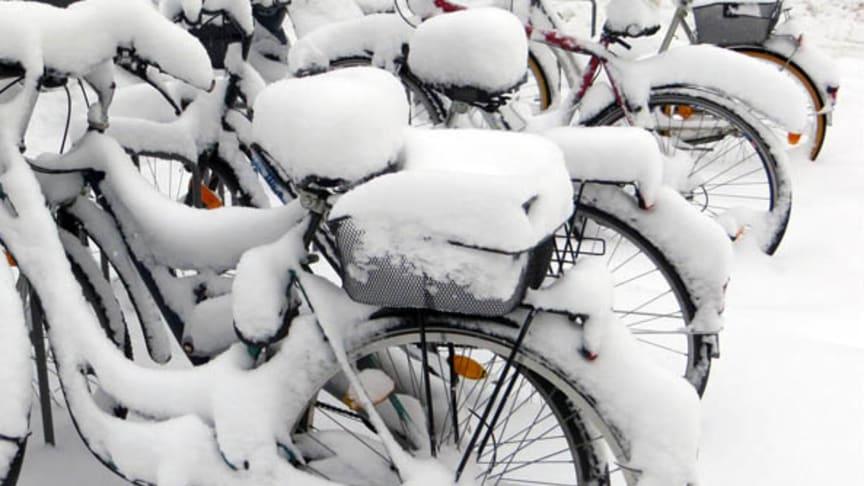 Felparkerade cyklar kan ställa till med problem under vinterhalvåret därför ska dessa flyttas. Foto: Pixabay