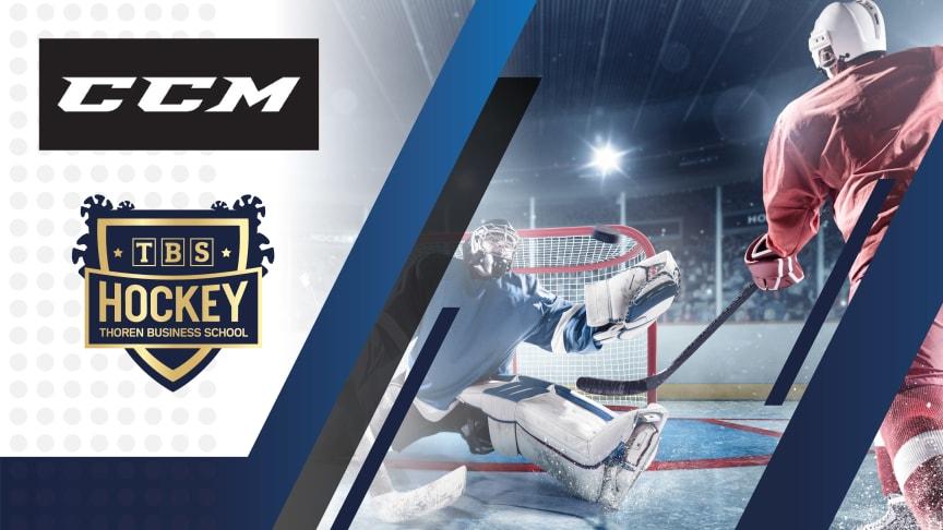 Thoren Business School har ishockeygymnasium i Karlstad, Sundsvall och Umeå. Nu inleder TBS ett samarbete och har skrivit ett treårsavtal med en av hockeyvärldens giganter, CCM Hockey.