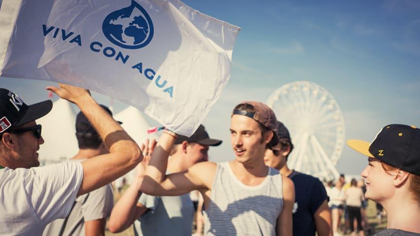 Viva con Agua in Action auf dem Southside Festival