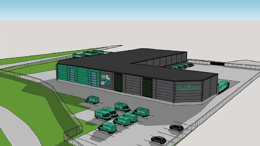 Markförsäljning i Lockarp ger 500 nya arbetstillfällen, Castellum uppför ett logistikcentrum för uthyrning till företaget Budbee.