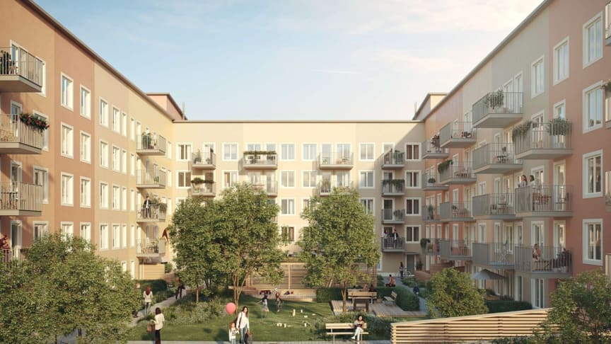 Brf Parkliv i Täby med 49 lägenheter.
