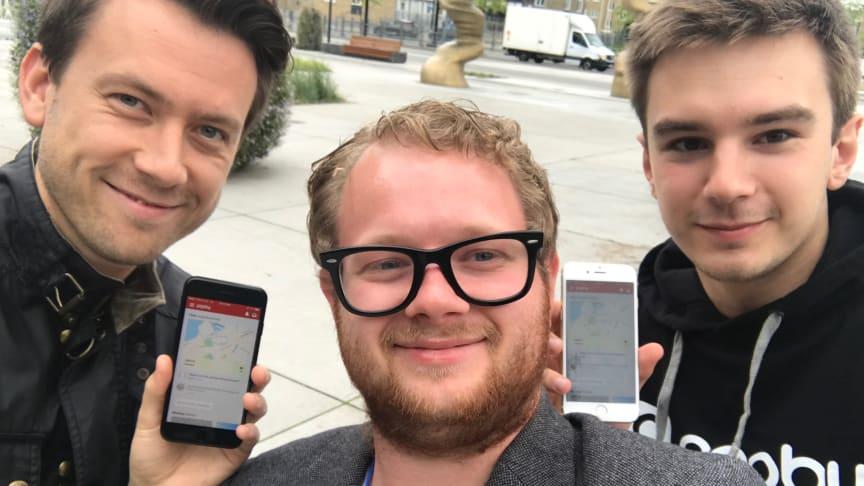 Teamet bakom PopBy: Johan Kristensson, Pierre Orsander & Alexander Shvets