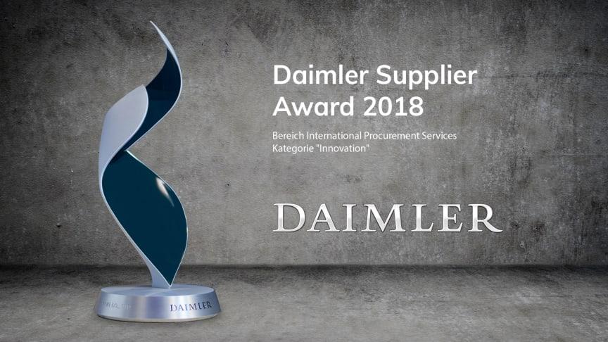 """Appsfactory erhält vom Bereich International Procurement Services den Daimler Supplier Award 2018 in der Kategorie """"Innovation"""""""