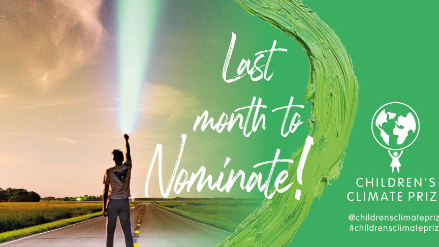 One month left to nominate for the Children's Climate Prize 2021