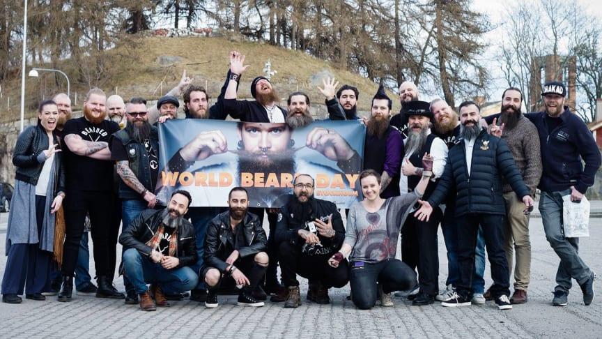 Skäggparaden avgår 13.00 från Medborgarplatsen på World Beard Day!