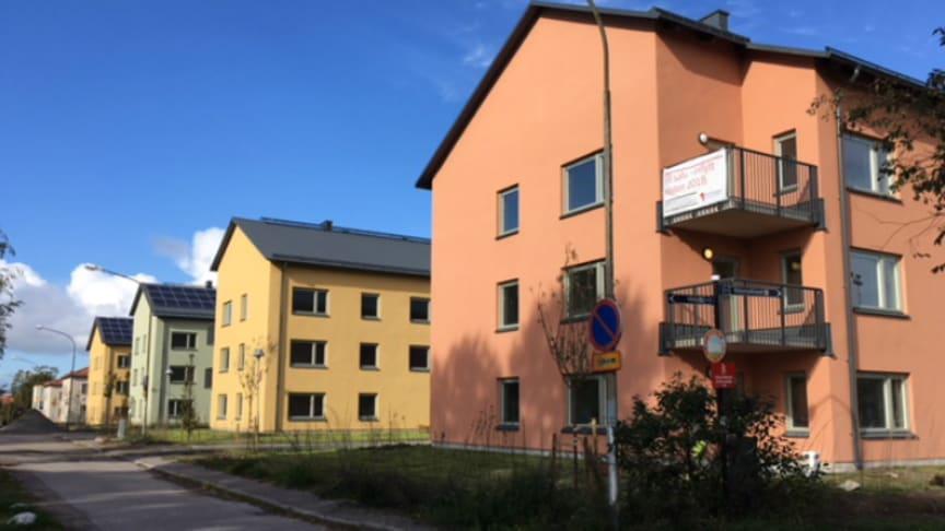 Klart för inflyttning i Brf Skolmästaren i Eskilstuna.