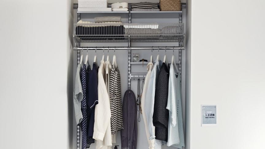 Optimera varenda millimeter med en stor liten garderob