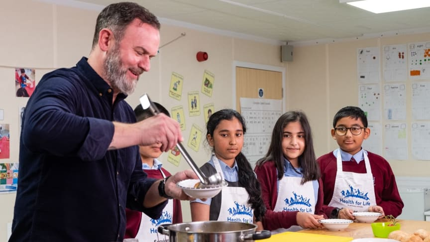 Glynn Purnell has designed a recipe for Birmingham students to cook simultaneously