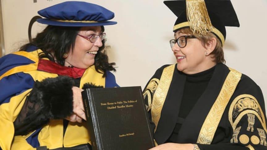 (L-R) Rosaleen McDonagh and Northumbria University Chancellor Tanni Grey-Thompson