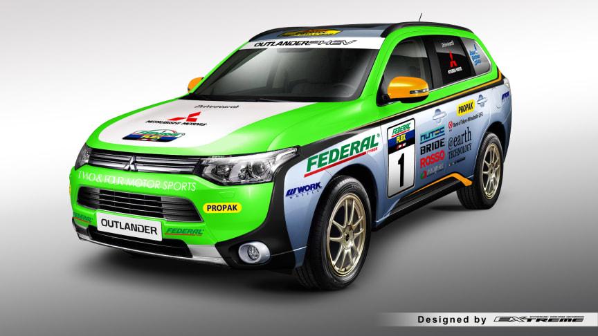 Outlander Plug-in Hybrid kör Asia Cross Country Rally