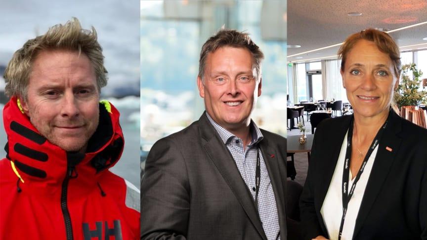 Nye distriktsdirektører i Scandic Norge. Fra venstre: Magne Jacobsen, Håvard Solum og Nina Askvik.