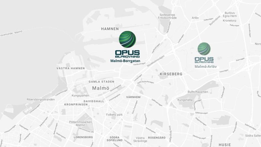 Våren 2020 öppnar Opus ytterligare en bilprovning i Malmö. Den här gången på Borrgatan 2.