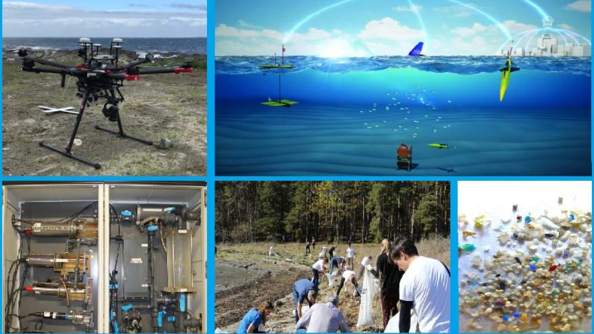 Morgendagens miljøovervåkning - bruk av ny teknologi og folkeforskning. (Foto: NIVA, Akvaplan-niva og Oregon State University / montasje: NIVA).