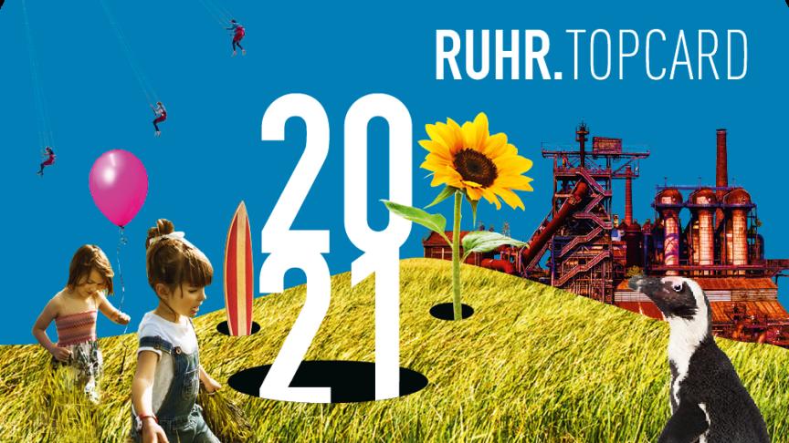 So sieht sie aus: Die RUHR.TOPCARD 2021 ist jetzt erhältlich.