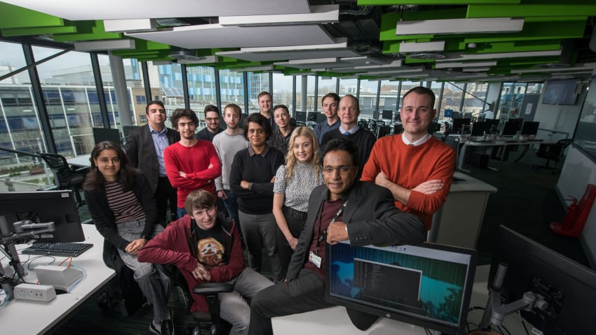 Students and staff from Northumbria University's Department of Computer and Information Sciences, pictured with representatives from the NEBRC.