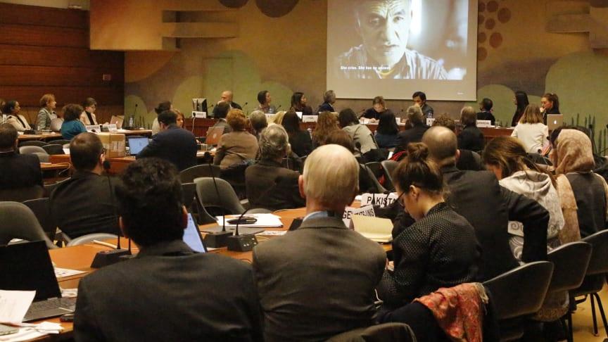 Stort internationellt intresse när FORB Learning Platform lanserades i FN, Geneve, tidigare i veckan. Foto: Svenska missionsrådet