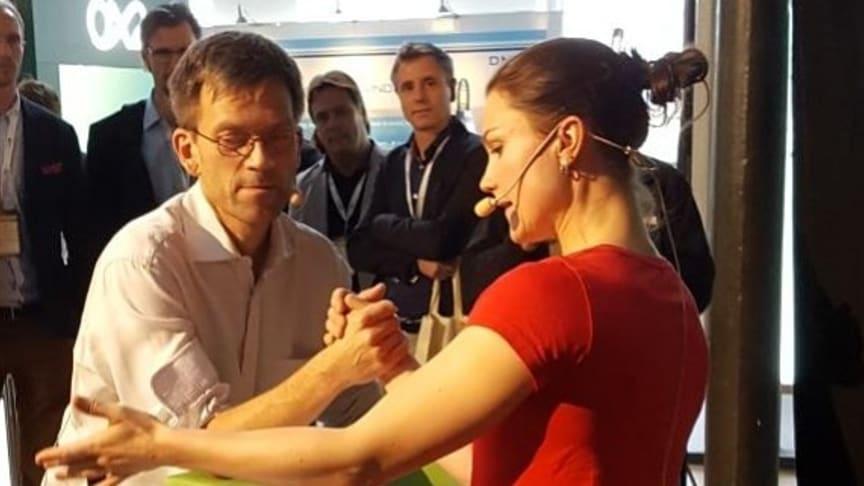 Mattias Goldmann och Heidi Andersson är två av föreläsarna under KlimatHoppMötet 11 september.