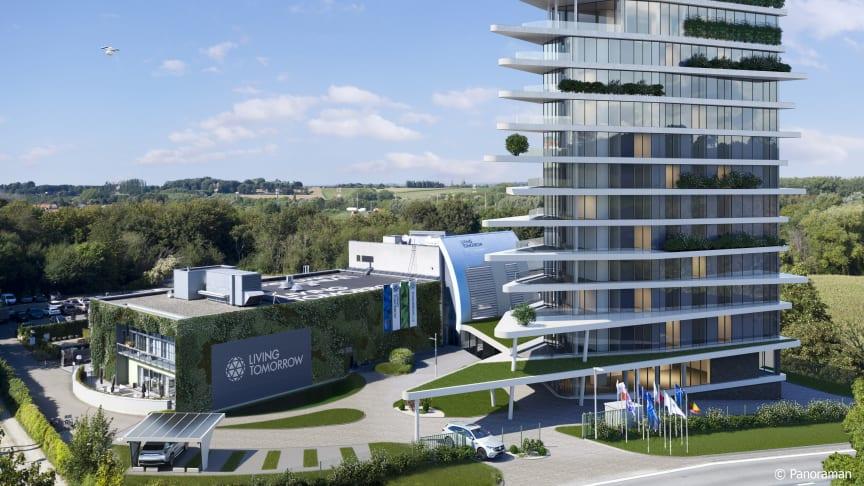 Innovatie komt tot leven op de gloednieuwe innovatiecampus van Living Tomorrow, die in 2022 de deuren zal openen. Naast het experience center en het hotel, wordt de droneport zeker een absolute blikvanger.