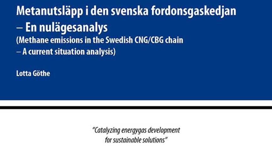 SVU-rapport C SGC2013-282: Metanutsläpp i den svenska fordonsgaskedjan – En nulägesanalys (Avlopp & miljö)