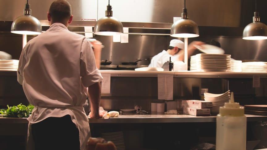 Arbetsplats restaurangkök
