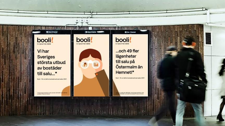 Booli i sin första kampanj någonsin