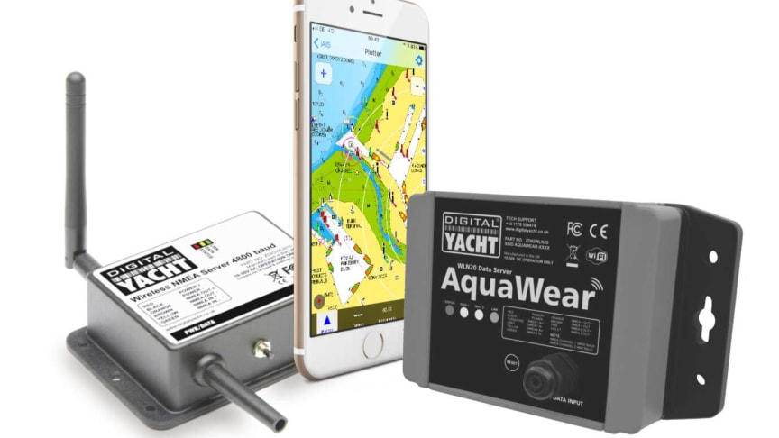 The WLN10 and WLN20 from Digital Yacht turn your iPhone or iPad into a full function, integrated navigation device