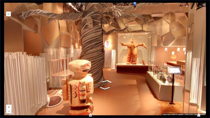 Google street view från utställningen Tillsammans på Världskulturmusset i Göteborg