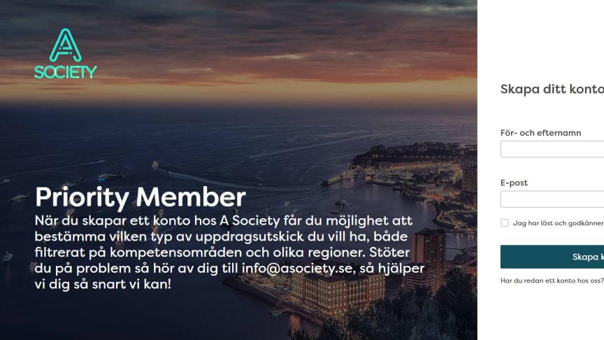 Bild från A Societys användarportal