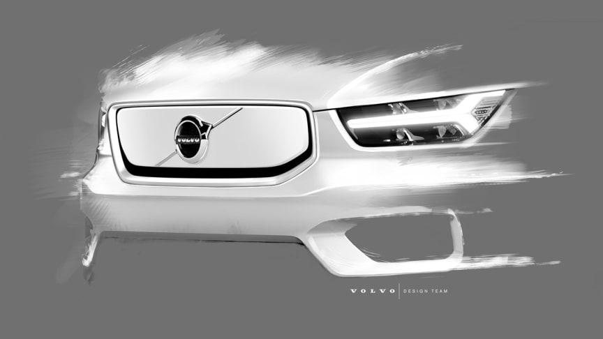 Helt elektriska Volvo XC40 förebådar en ny framtid och gör mer - med mindre