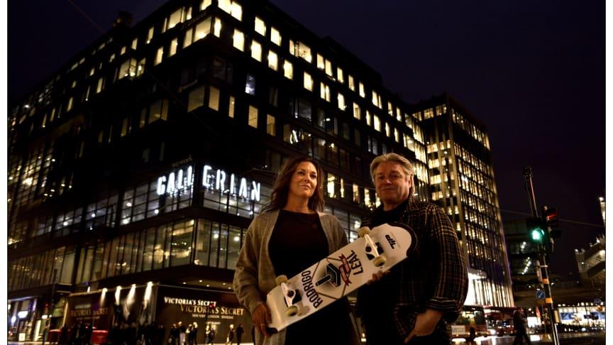 Centrumchef Cecilia Åkesson & Projektansvarig Alex Lindgren